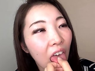 Japanese girl's tongue