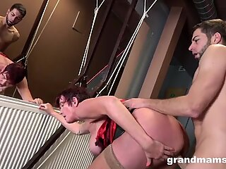 Slutty Granny Takes Good Care of Her Boy Toy