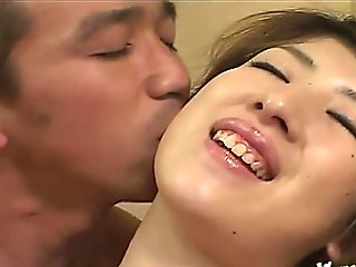 Japanese AV Model with long nails is pumped by sucked phallu