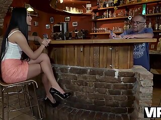 VIP4k. horny lady cheats on her boyfriend with his mature