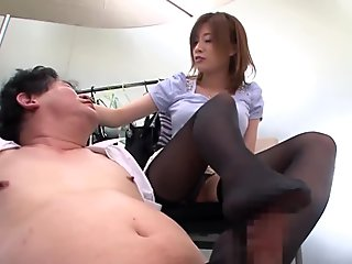 pinching on her nipples and she sucks a cock