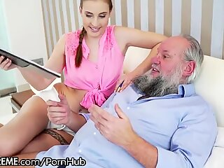21Sextreme Hairy Grandpa Plays with Teens Body