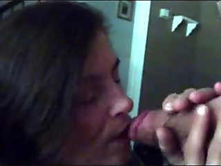 Kinky Asian girl slurping cum and swallowing