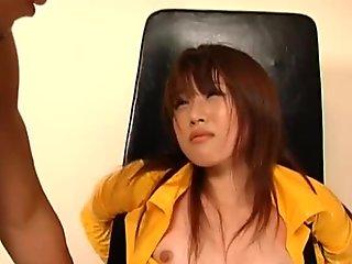 japanese girl Nei Nanami gets anal creampie while DP fucks