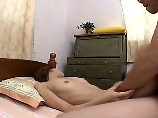 Small titty brunette Asian riding the dude well