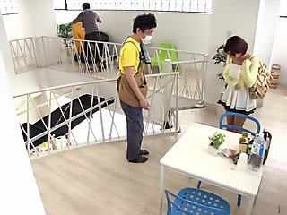 Best Japanese slut Mana Sakura in Incredible college, blowjob JAV clip