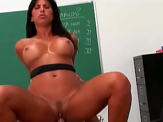 Lovely Lezley Zen horny in the classroom for a hard fucking