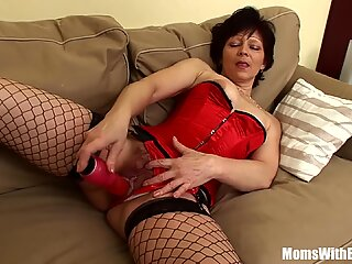 Sexy Mama Eva In Her Lingerie Fucking A Young Stud