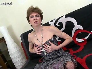 Grandmother fucked by young lucky boy