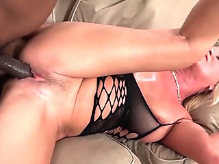 Milf With Hairy Pussy Riding On A Guys Cock