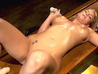 Arousing Asian milf gets her pussy vibrated and dildoed