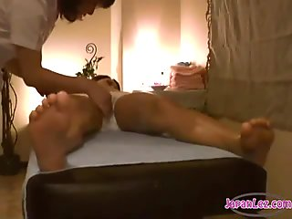 Lesbian Pussy Stimulation During Massage