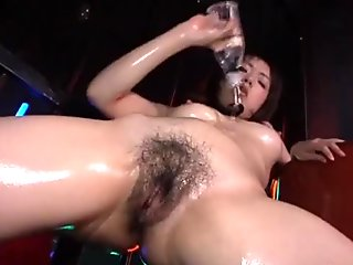 Sweet solo with Japanese model