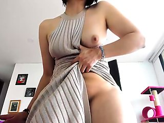 Schoolgirl In Training Dress Rubbing Guy Cock With Tits Sucking Him In The Changing Room