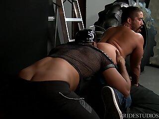 Big Dick Black Daddy Rough Fucks Hairy Latino Boy