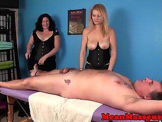Masseuses cum controlling customer