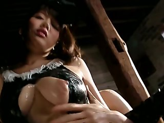 Nuru covered nippon pussy rubbed in cosplay