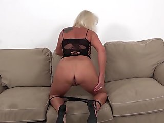 Teen conceit babe punished and fucked with strapon in rough lesbian sex videclip by sexy mistress