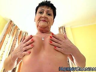 Face spunked grandmother