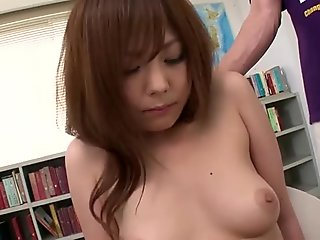 Miku Airi's dripping wet pussy made to cum with sex toys