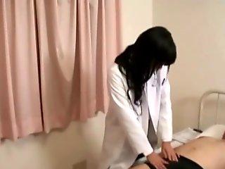 Japanese hottie nurse gets dirty