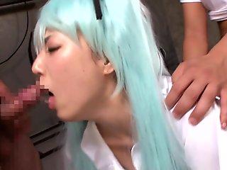 Miku Osu Gets Gangbanged - CosplayInJapan