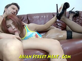 Money For exciting hump With asian Freak