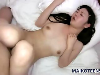 Mina Terashima spits on a cock and blows it deep