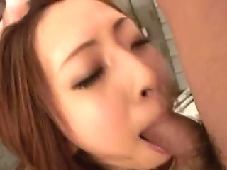 Saki Shimazu gets vibrator in mouth and cocks