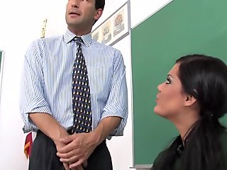 Sweet Japanese schoolgirl tries her hardest to suck a small dick