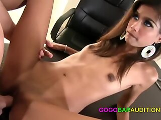 skinny hot bitch auditions for gogo job