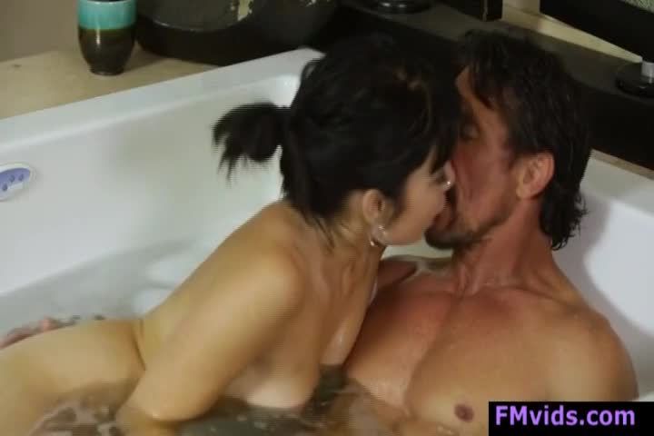 lesbo babes in the bathtub having some fun time
