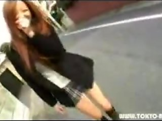 Sakuya Shameless Japanese outdoors with vibrator in her vagina