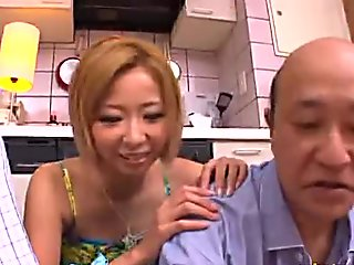 AzHotPorn.com - Japanese Maid Fucked by Dirty Old