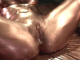 Painted Asian girl fucking