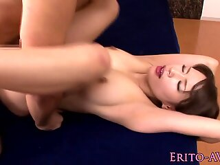 Facialized japanese models pussy eaten out