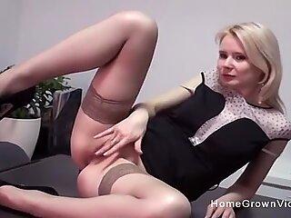 Fucking my hot blonde secretary in the office