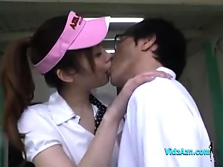 Asian Girl Giving Blowjob Licked And Fingered By Her Golf Instructor