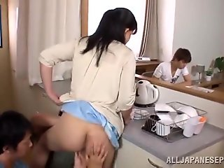 Hot Cougar Getting Her Pussy Smashed In The Kitchen