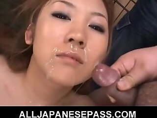 Japanese Karin Tsubaki has her furry muff filled with whiskey