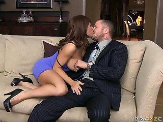 Devon Michaels licks and suck a massive cock until he shots a big load