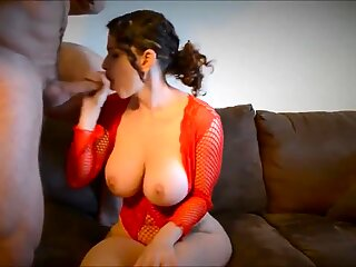 Busty MILF with hot lingerie