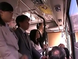 Stockinged jap office doll threesomed at work
